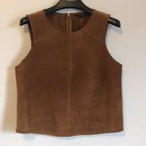 Zara Suede Leather Top